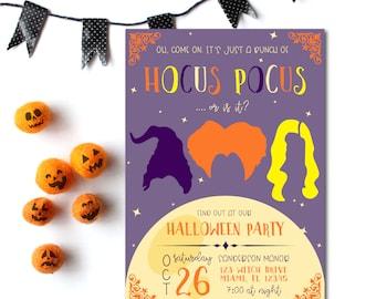Halloween Party Invitation | Hocus Pocus Halloween Party Invite | Sanderson Sisters | Halloween Invitation Digital Download