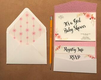 svg 5 x 7 pocket fold wedding invitation 5x7 pocketfold etsy