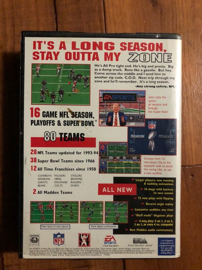 Classic Madden 94  SEGA Genesis Like new condition