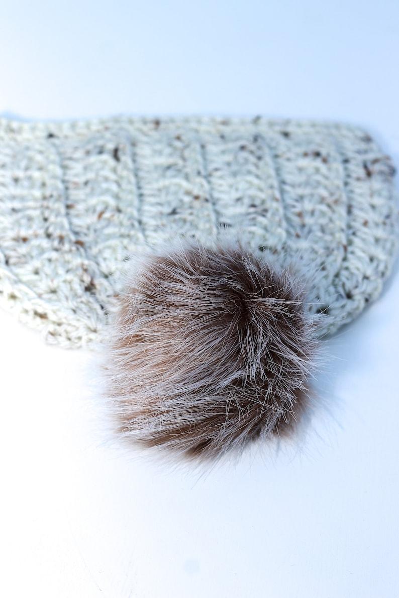 Pom Pom for Hat Knitting Supplies Crochet Accessories Brown Faux Fur Brown Fur Brown Pom Pom Faux Fur Pompom Faux Fur Pom Pom