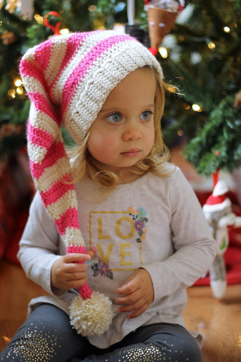 Christmas Hats For Kids.Christmas Hat For Kids Christmas Hats For Kids Christmas Photo Prop Pom Pom Hat Kids Winter Hats Baby Elf Hat Elf Hats Stocking Hat
