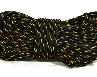 """3/16"""" (4.5mm) Rope Double-braided polyester w/ low-stretch core - 100 feet"""