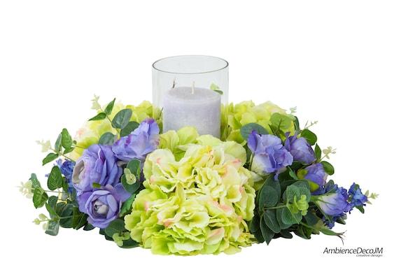 Candle Wedding Centerpiece Artificial Flower Centerpieces Etsy
