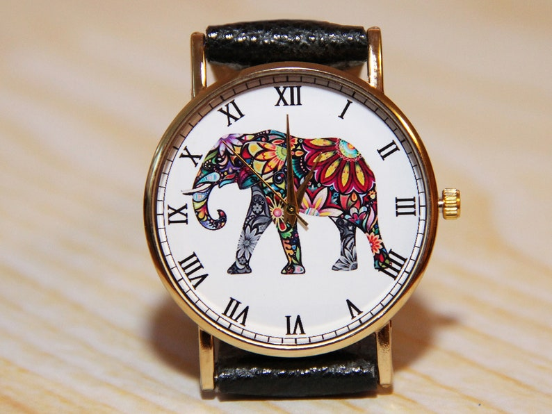 be42f1207547 Wrist watch elephant watch birthday gift women watch mens