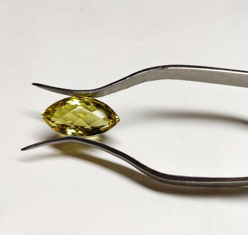 Lemon Quartz loose gemstone. natural Lemon Quartz Briolette cut gemstone 24x12 mm Lemon Quartz Marquise cut gemstone
