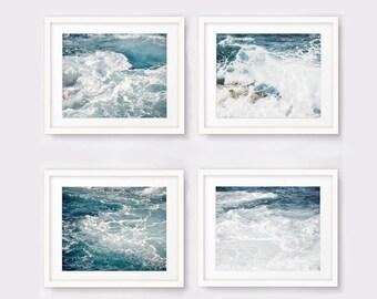 Nautical print set of 4 ocean photography, beach prints, beach decor nautical decor printable wall art digital download digital prints