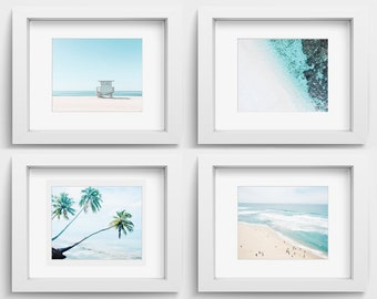Nautical print set of 4 ocean photography, beach prints, beach decor nautical decor seascape printable wall art digital download digital art
