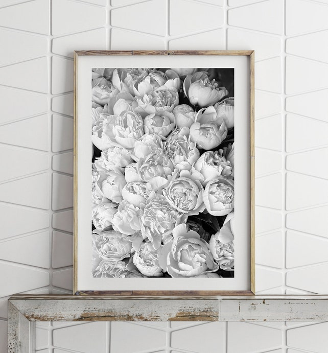 Flower Wall Art Peony Print Flower Photography Prints Large | Etsy