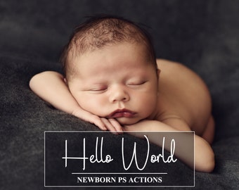 70 Newborn PS Actions - Newborn Retouch Actions - Baby Pastel Actions - Newborn Workflow - Baby Photoshop Effects - Children Actions Set