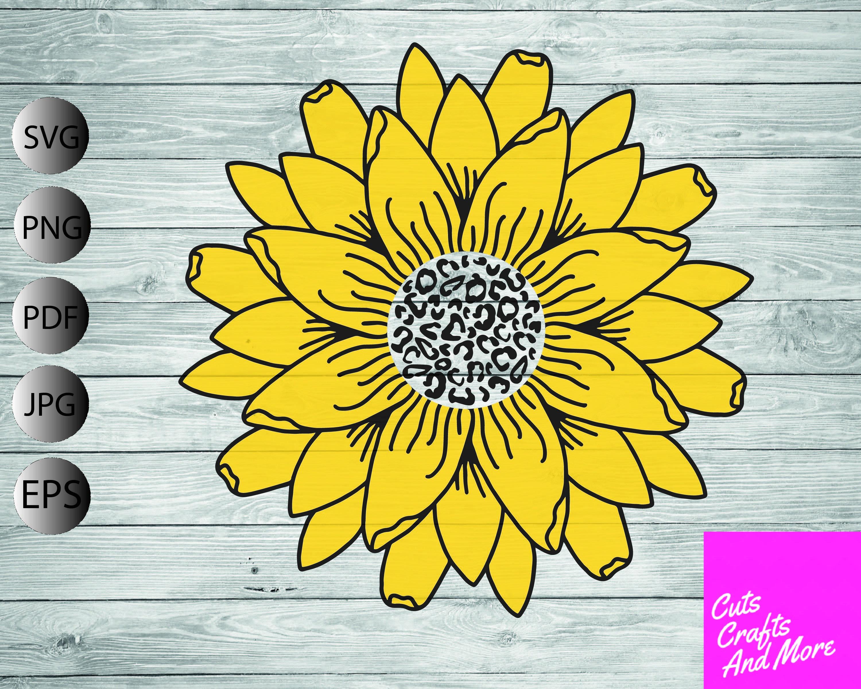 Download Sunflower Animal print SVG Sunflower svg Cricut Silhouette ...
