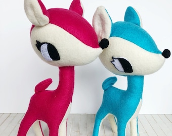 Felt toy. Faun in Pink