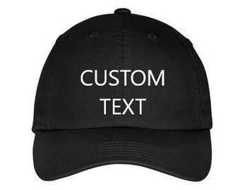 f3dc574866aad CUSTOM Kids   Toddler   Adult Baseball Hat. Personalized Hat. Custom Dad Hat.  Kids   Toddler Personalized Baseball Hat. Custom Text Hat.