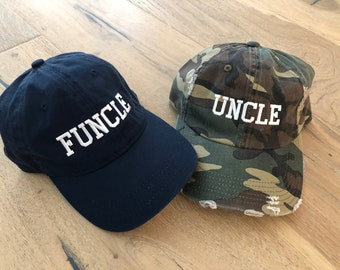 Kkidj Ooii Funcle The Fun Uncle Cowboy Caps Unisex Adjustable Dad Baseball Hats Navy