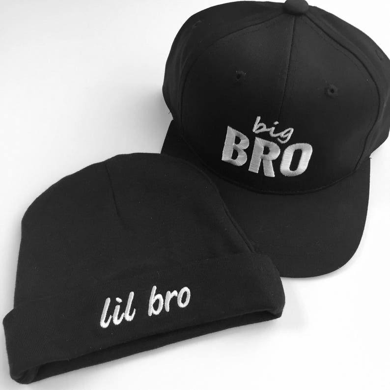 Middle Bro Matching Brother Hats Big Bro Lil Bro Kids Snapback BROS Toddler Snapback Big Brother Gift. Sibling Hats Lil Bro Beanie