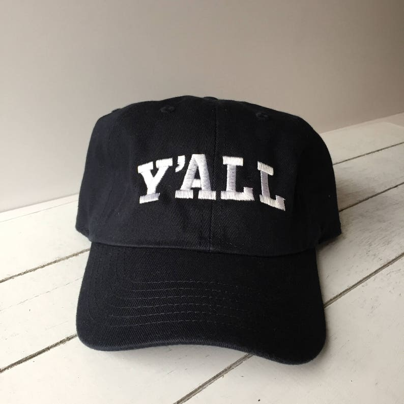 548e86db79f Y ALL Embroidered Baseball Caps Dad Hat Relaxed Fit