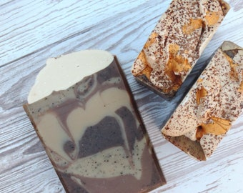 Mocha Latte   Luxury Handcrafted Artisan Soap   XL Size   Limited Edition   Coffee Soap   Winter Collection   Palm Free   Made with Coffee