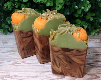 Pumpkin Patch   Pumpkin Spice   Artisan Soap   XL Size   Limited Edition   Fall Soap   Cold Process   Palm Free   Luxury   Foodie Soap