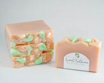 Sweet Satsuma   Handcrafted Artisan Soap   Mandarin Orange    Palm Free   Cold Process   Luxury Soap   Gift for Her   Christmas Gift