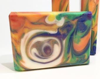 Key West   Handcrafted Artisan Soap   Rainbow   Cold Process   Palm Free   Luxury Soap   Clyde Slide   Be Delicious