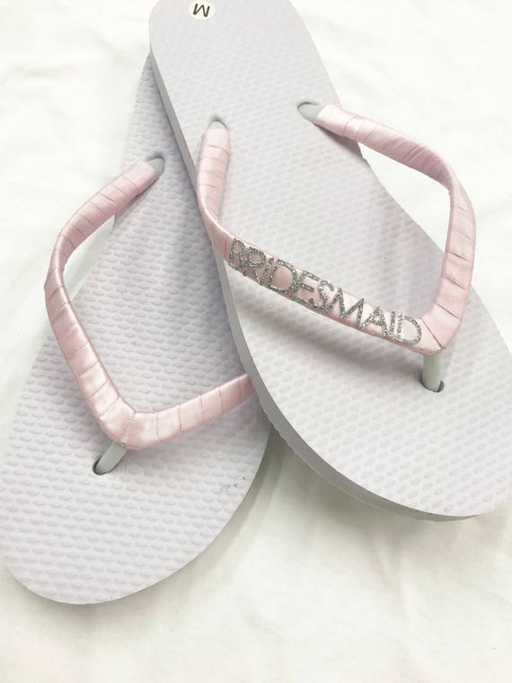 0396fd21e36 ... Bridesmaid Flip Flops with Sparkly Silver Letters. Bridal Flip Etsy  release info on 53218 843bb ...
