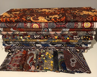 Australian Aboriginal Fabric Bundle 20 set 4 Fat Quarters- 50x55cm