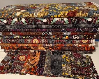Australian Aboriginal Fabric Bundle 20 set 3 Fat Quarters- 50x55cm