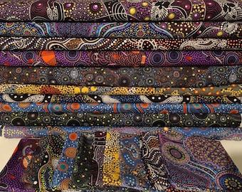 Australian Aboriginal Fabric Bundle 20 set 2 Fat Quarters- 50x55cm