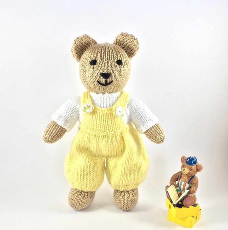 Teddy Bear Knitting Pattern Knitted Teddy Sweater PDF Bear ...
