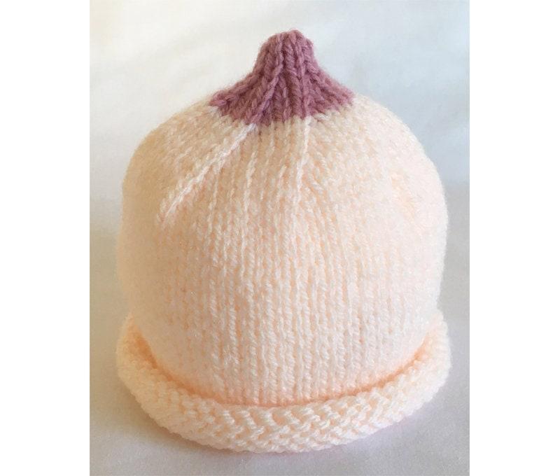 Boob Breast Baby Beanie Hat Knitting Pattern Breast Beanie  68c15062255