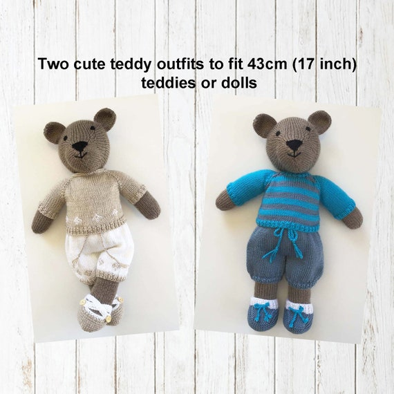 PRINTED KNITTING INSTRUCTIONS-TWO HOUR TEDDY BEAR TOY KNITTING PATTERN