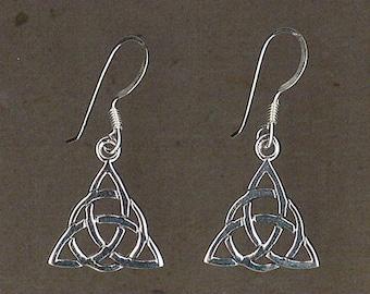 Celtic Knot Sterling Silver Earrings Handmade by Chris Hay