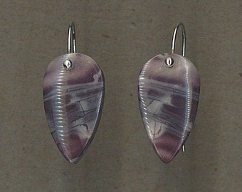 Green Swiss Opal and Sterling Silver Earrings Handmade by Chris Hay