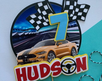 Fast and Furious Cake Topper, Car Cake Topper, Boy Cake Topper, Cars Cake Topper, Cake Topper, 2nd 3rd 5th Birthday Cake, Racing Cake Topper