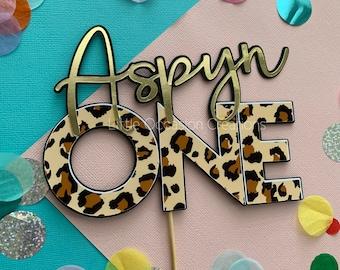 Leopard Cake Topper, Leopard Print, Leopard Print Cake Topper, Leopard, Cake Topper, Gold Cake Topper, 18th 30th 40th 50th Cake Topper