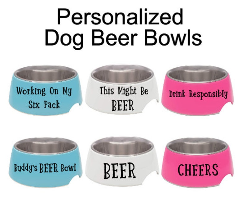 Beer Lover,Dog Dad Gift Personalized Dog Bowl,Dog Beer Bowl,Dog Drinking Bowl,Watering Bowl,Water Bowl,Beer For Dogs,Stainless Steel
