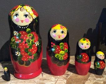 Strawberries  Nesting Dolls babushka dolls Promotion Price
