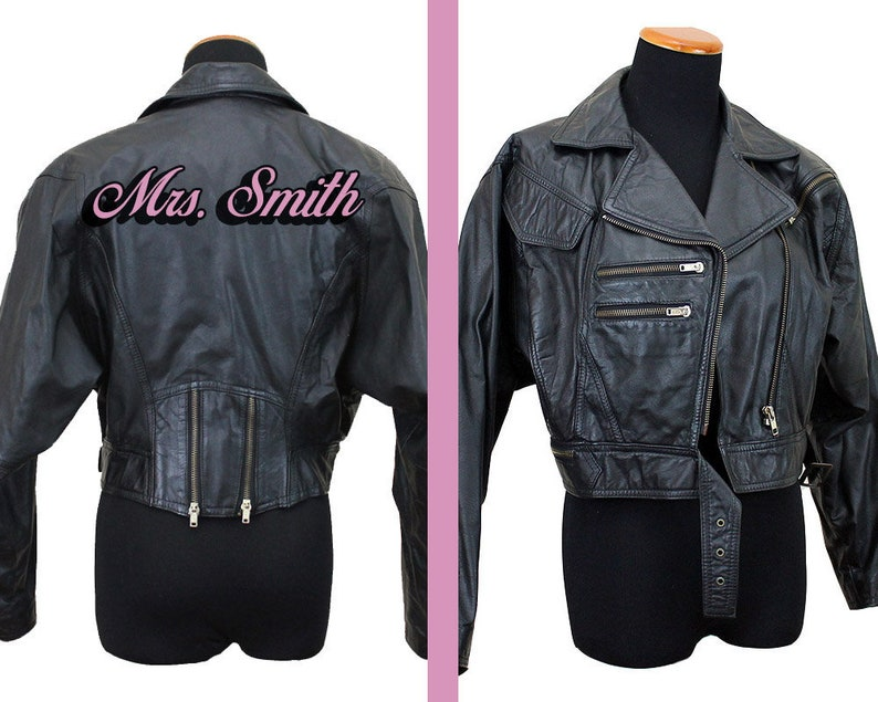 Personalizzato personalizzato in pelle verniciata jacket etsy