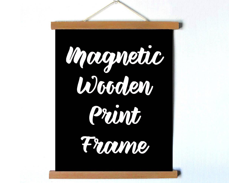 8.5 in magnetische Holz Bilderrahmen magnetische Holz Druck | Etsy