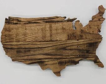 Wood United States Map.Wood Usa Map Etsy