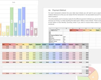 Bookkeeping Spreadsheet for your UK Handmade Business, Accounting Spreadsheet, Bookkeeping System, Bookkeeping Template, Accounting Template