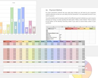 Costs Breakdown Bookkeeping Spreadsheet for your UK Handmade Business, Accounting Spreadsheet, Bookkeeping System, Bookkeeping Template
