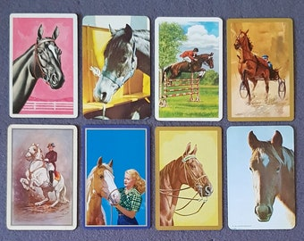 Playing Swap Cards  GENUINE 2 only single VINTAGE INDIAN ON HORSE