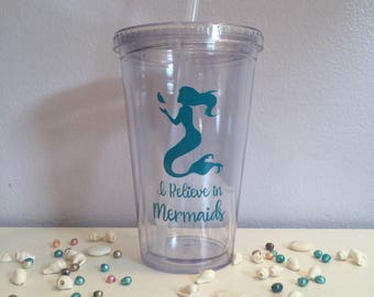 I Believe in Mermaids Travel Cup