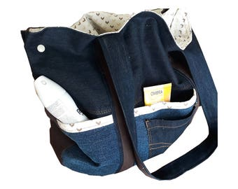 Jeans bag XL Shopper recycled denim large tote