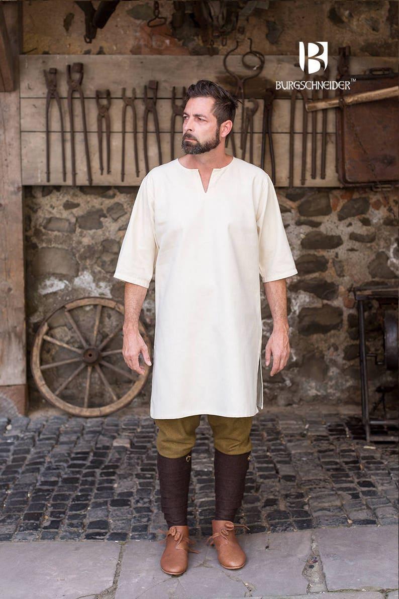 89bbc69c799a8 Burgschneider Medieval Viking 3/4 sleeve Cotton Under-tunic Lofar