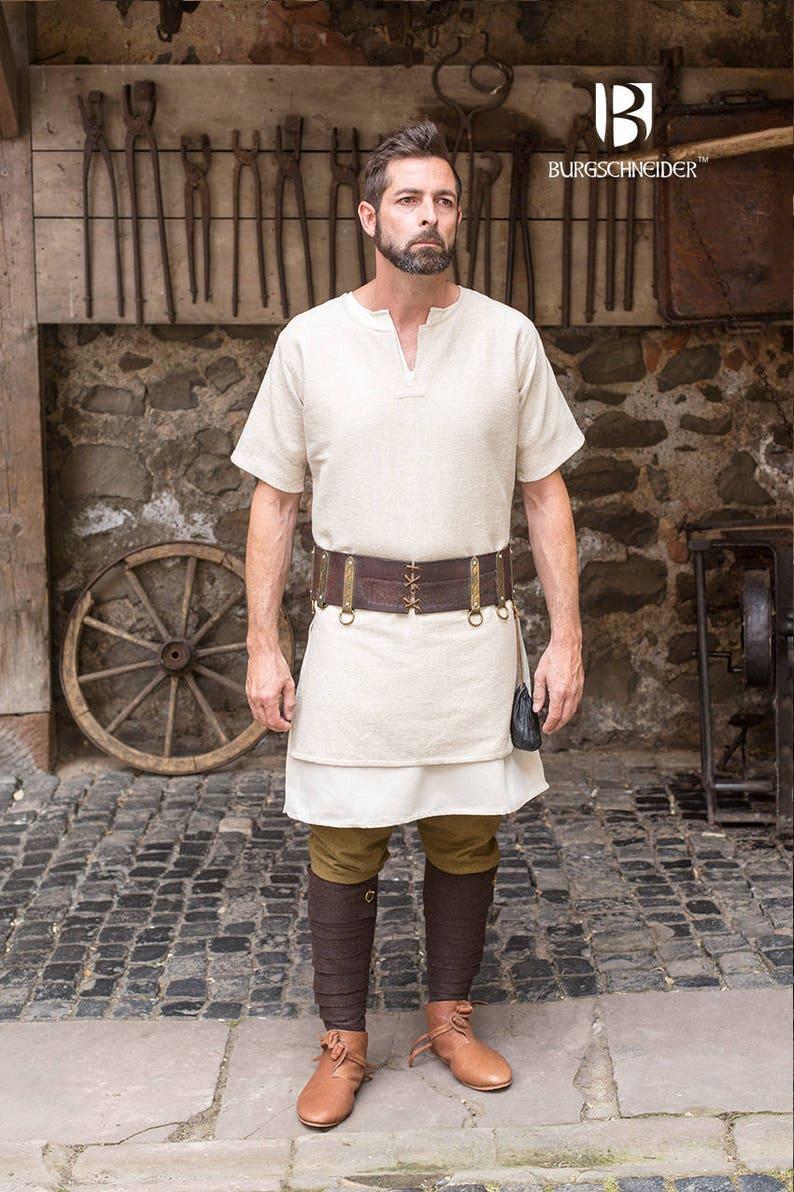 3db6906053a2e Burgschneider Medieval Viking Short Sleeve Cotton Tunic Aegir