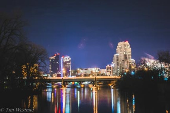 A Night Out Grand Rapids Michigan Photography Print Etsy