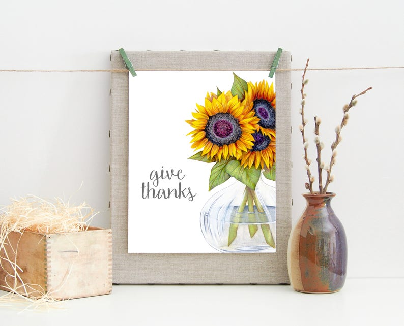 photograph relating to Printable Pictures of Sunflowers named Deliver Due-Deliver Due Print-Sunflowers inside of Vase Print-Thanksgiving Print-Tumble Print-Sunflowers Print-Prompt Obtain-Printable Wall Artwork