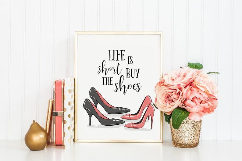 b3c7e8c2e02e0 Life is Short Buy the Shoes Print-Shoes Print-Retro Print-Retro Shoes-Clost  Print-Home Decor-Instant Download-Wall Art Decor-Printable Art