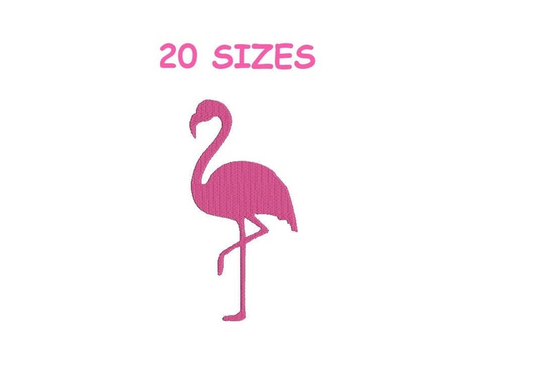 Flamingo mini Embroidery Flamingo Embroidery design Flamingo design Flamingo Embroidery Machine Embroidery Design. Flamingo Silhouette